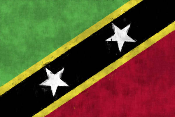 Wall Art - Digital Art - Saint Kitts And Nevis Flag by World Art Prints And Designs