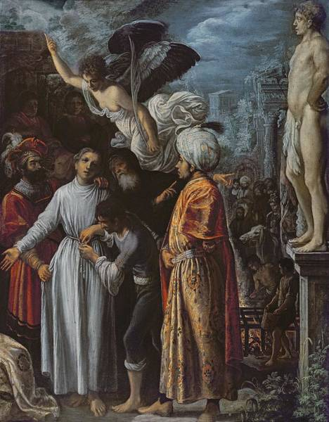Mercy Wall Art - Photograph - Saint Lawrence Prepared For Martyrdom, C. 1600-1 Oil On Copper by Adam Elsheimer