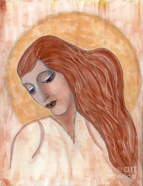 Wall Art - Painting - Saint Lily by Nancy TeWinkel Lauren