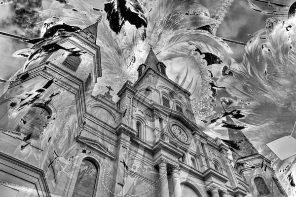 Photograph - Saint Louis Cathedral And Spirits by Ron White
