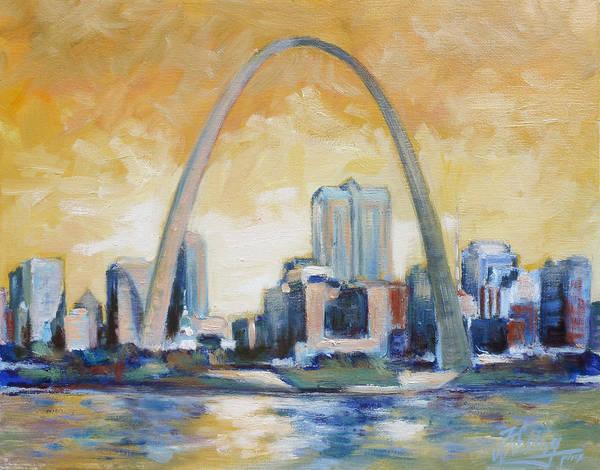 St Louis Arch Painting - Saint Louis Riverfront by Irek Szelag