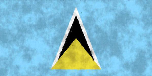 Carribean Islands Digital Art - Saint Lucia Flag by World Art Prints And Designs