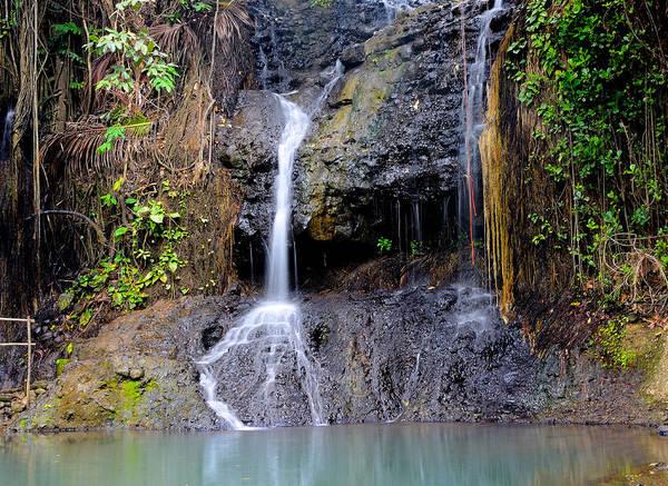 Wall Art - Photograph - Saint Lucia - Latille Waterfall by Brendan Reals