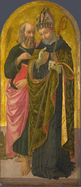 Painting - Saint Mark And Saint Augustine by Zanobi Machiavelli