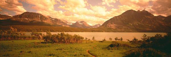 St. Marys Photograph - Saint Mary Lake, Montana, Usa by Panoramic Images