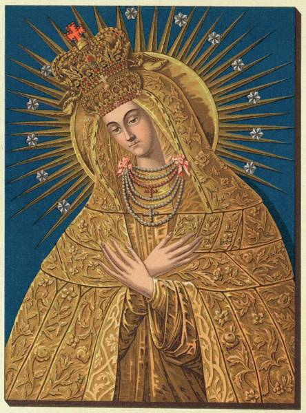 Wall Art - Painting - Saint Mary Of Ostrabrama Depicted by Mary Evans Picture Library