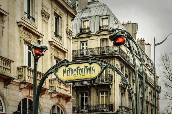 Railway Station Photograph - Saint-michel Metro Station by Marco Oliveira