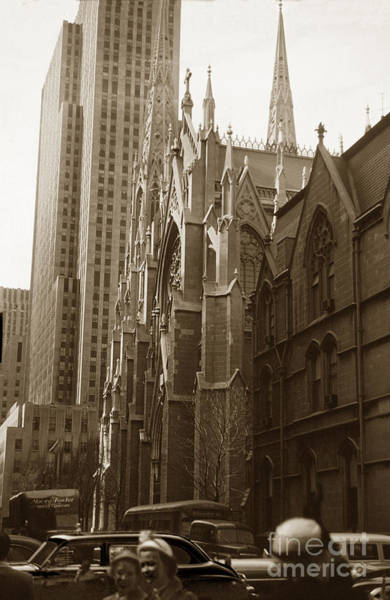 Photograph - Saint Patricks Cathedral New York City N Y Circa 1957 by California Views Archives Mr Pat Hathaway Archives