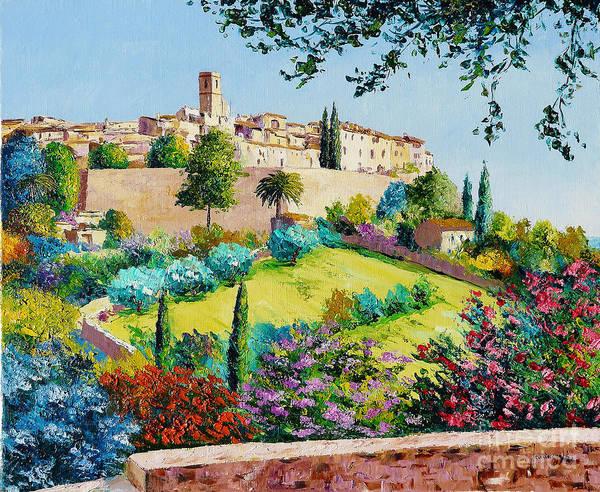 Summer Day Digital Art - Saint Paul De Vence by MGL Meiklejohn Graphics Licensing
