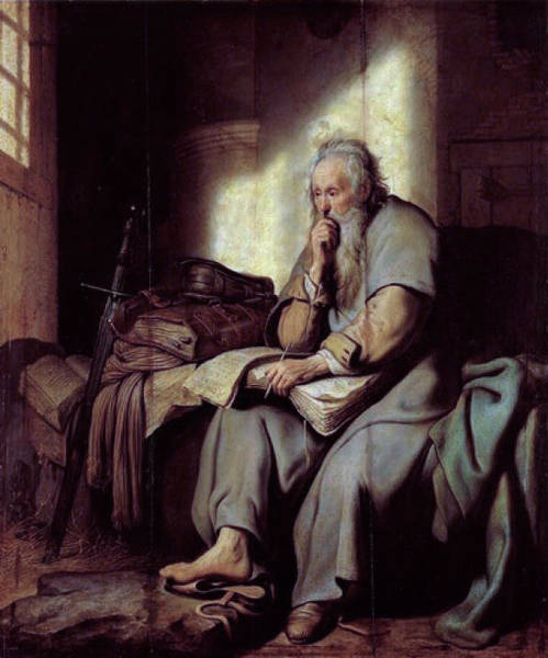 Painting - Saint Paul In Prison by Celestial Images