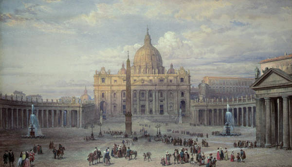 Vatican Painting - Saint Peters In Rome by Louis Haghe