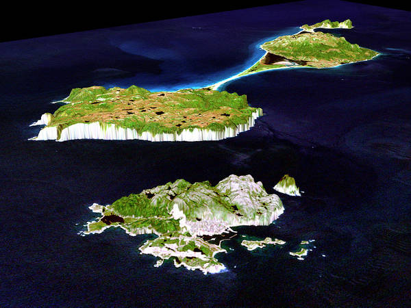 Landsat 7 Wall Art - Photograph - Saint Pierre And Miquelon by Nasa/science Photo Library