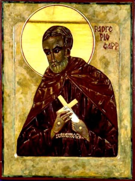 Padre Pio Wall Art - Painting - Saint Pio by Fr Richard G Cannuli OSA