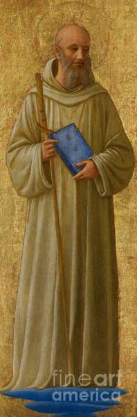 Staff Wall Art - Painting - Saint Romuald by Fra Angelico