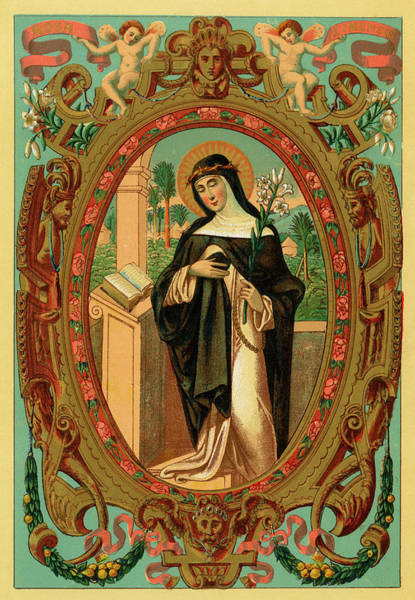 The Mystic Drawing - Saint Rosa Di Lima  Mystic        Date by Mary Evans Picture Library