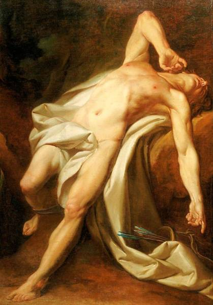 Painting - Saint Sebastian by Nicolas Guy Brenet