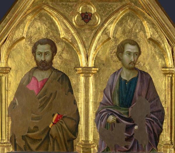 Painting - Saint Simon And Saint Thaddeus by Ugolino di Nerio