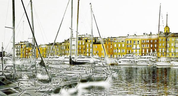 St Mixed Media - Saint Tropez by Frank Tschakert