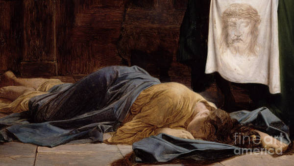 Sacred Ground Painting - Saint Veronica by Hippolyte Delaroche