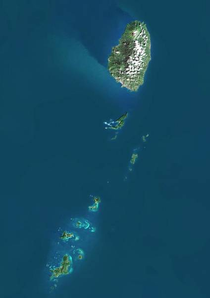 Landsat 7 Wall Art - Photograph - Saint Vincent And The Grenadines by Planetobserver/science Photo Library