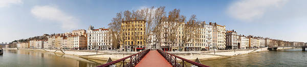 Rhone River Photograph - Saint Vincent Bridge Over The Saone by Panoramic Images