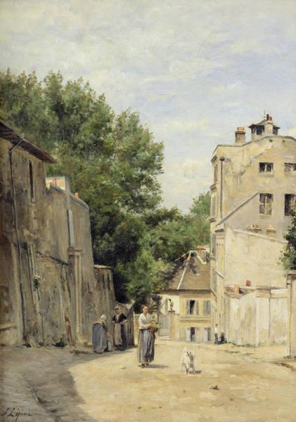 Parisian Photograph - Saint-vincent Street, Montmartre Oil On Canvas by Stanislas Victor Edouard Lepine