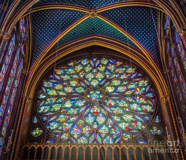 Chapelle Photograph - Sainte-chapelle Fenetre Ronde by Inge Johnsson