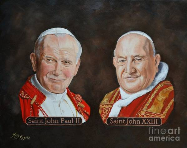 Mary Rogers Painting - Saints by Mary Rogers