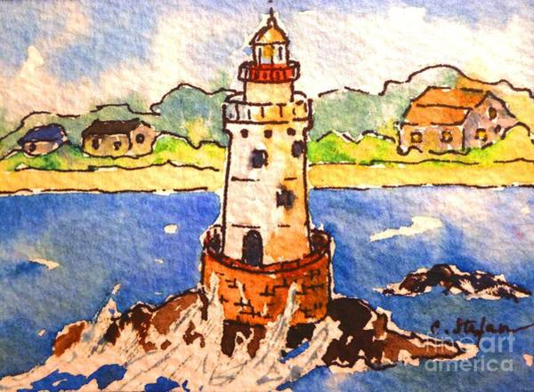 Painting - Sakonnet Lighthouse - Rhode Island - Usa by Cristina Stefan