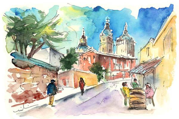 Spanish People Drawing - Salamanca 02 by Miki De Goodaboom