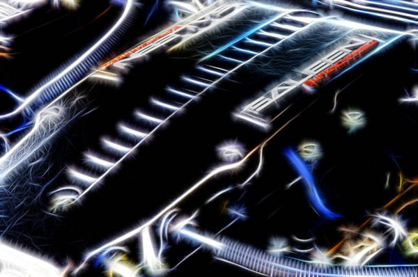V8 Engine Wall Art - Photograph - Saleen Fractal by Ricky Barnard