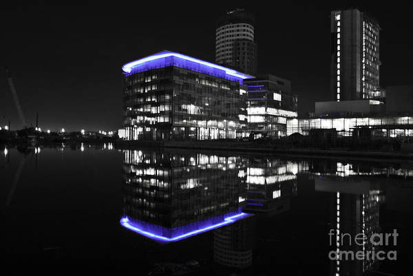 Photograph - Salford Quay Reflection by James Lavott