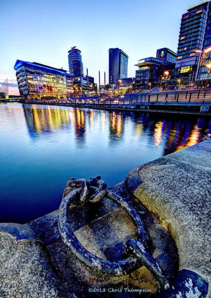 Manchester City Wall Art - Photograph - Salford Quays by Chris Thompson