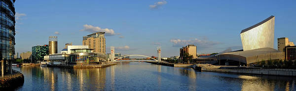Greater Manchester Wall Art - Photograph - Salford Quays Nad Imperial War Museum by Adrian Pope