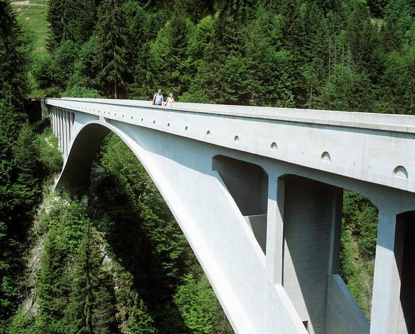 Wall Art - Photograph - Salginatobel Bridge by Martin Bond/science Photo Library