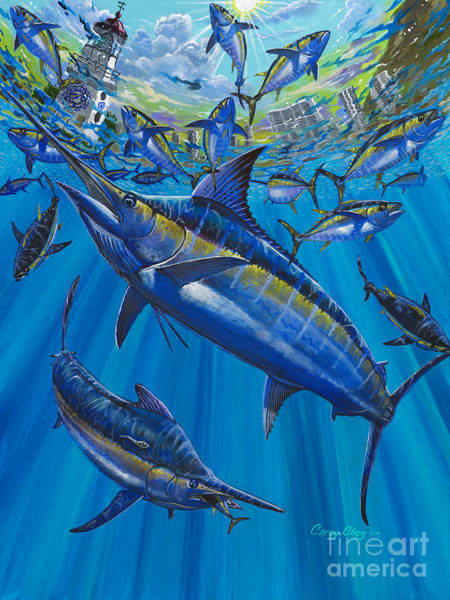 White Marlin Wall Art - Painting - Salinas Off006 by Carey Chen