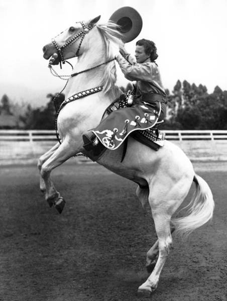 Santa Barbara Photograph - Salinas Rodeo Cowgirl by Underwood Archives