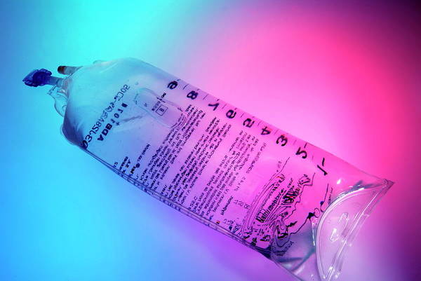 Wall Art - Photograph - Saline Solution by Cc Studio/science Photo Library