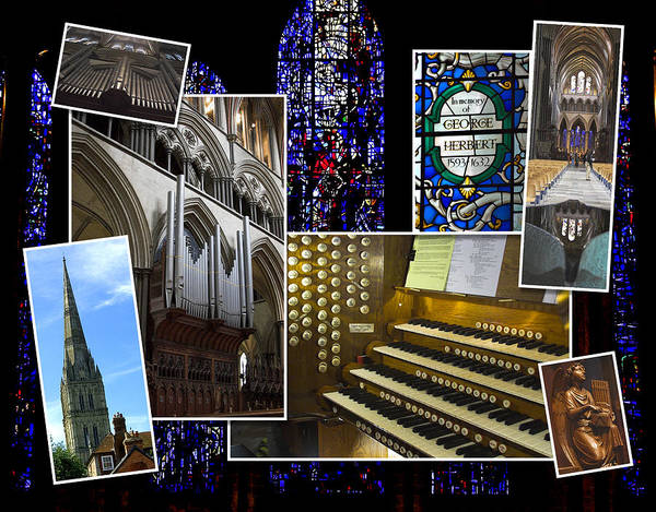 Photograph - Salisbury Cathedral Montage by Jenny Setchell