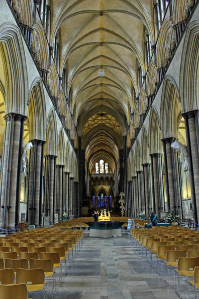 Photograph - Salisbury Cathedral Nave by Tony Murtagh