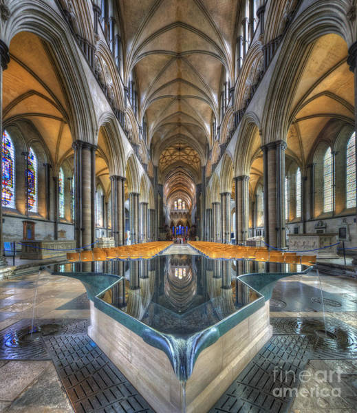 Photograph - Salisbury Cathedral by Yhun Suarez