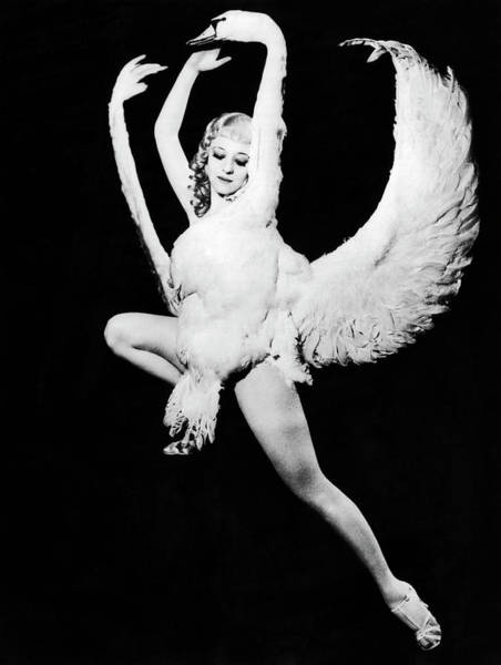 Burlesque Dancer Photograph - Sally Rand, Leda And The Swan by Underwood Archives