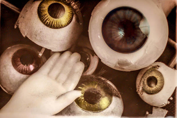 Doll Parts Photograph - Sally's Eyes by Gary Fossaceca