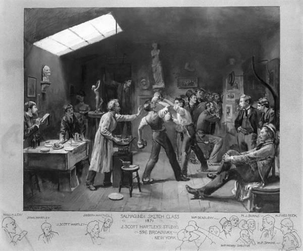 Drawers Painting - Salmagundi Club, 1879 by Granger
