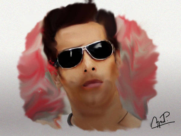 Bollywood Wall Art - Painting - Salman Khan Painting by Parvez Sayed