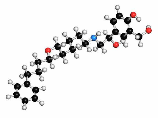 Pharma Wall Art - Photograph - Salmeterol Asthma Drug Molecule by Molekuul