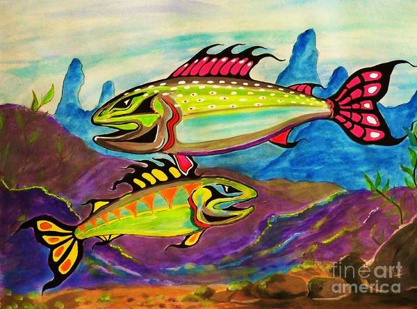 Photograph - Salmon Of Colour by Al Fritz
