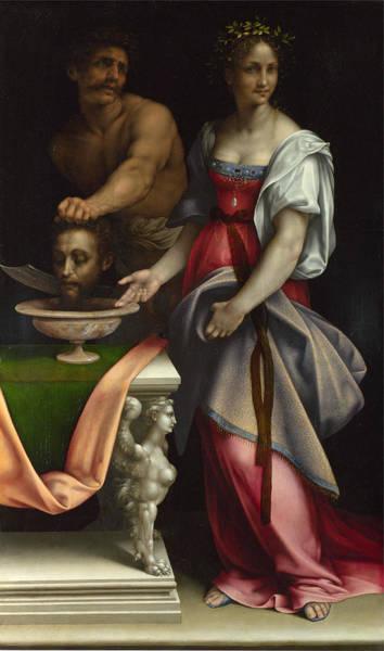 Cesare Painting - Salome by Cesare da Sesto