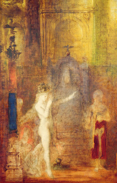 Shining Painting - Salome Dancing Before Herod by Gustave Moreau