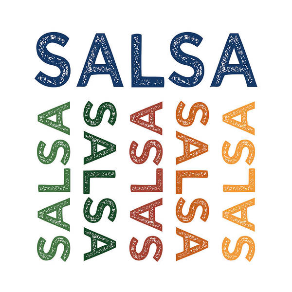 Cheerful Digital Art - Salsa Cute Colorful by Flo Karp